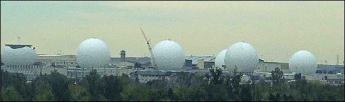 Radar domes.